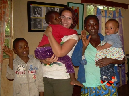 Rosa con i suoi bambini