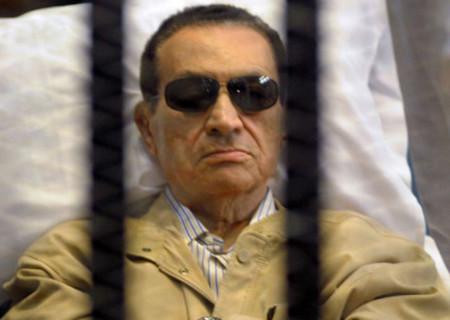 Hosni Mubarak durante il Processo