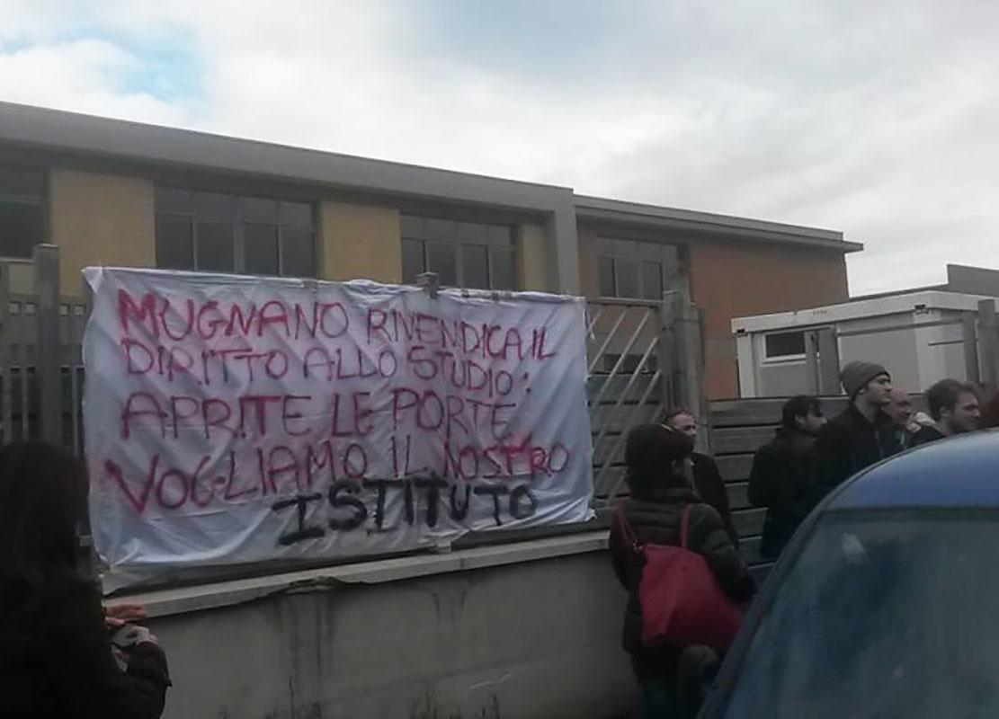Protesta a Mugnano per il diritto allo studio - Foto di Federica Mandara