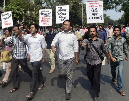 Le proteste in Bangladesh
