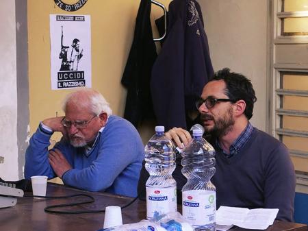 Incontro con Giuseppe Aragno (A sinistra) - Tutte le foto sono di Francesca Roberto