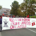 Corteo contro Governo Renzi.