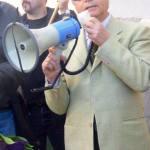Vincenzo Gulì a una manifestazione