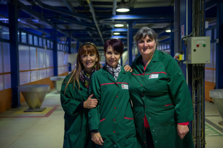 In fabbrica. Foto archivio