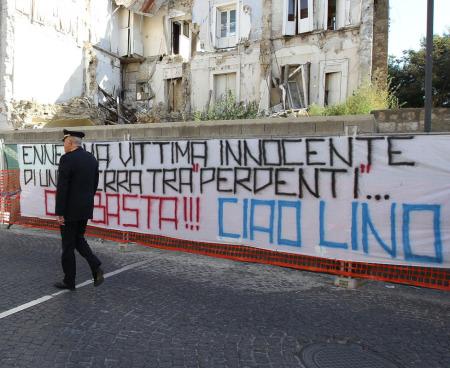 Striscione per Lino Romano - Foto di Marco Cantile