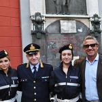 Il Comandante della polizia Municipale di Napoli Ciro Esposito e il Capitano Ciro Guadagnino.