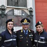 Capitano Giuseppe Imperatore e gli agenti Azzurra Lama e Alessia Vitale.