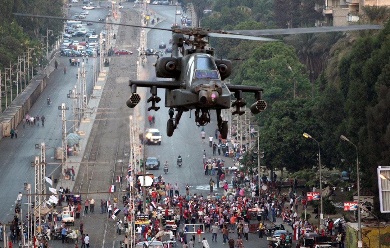 Elicotteri egiziani in azione