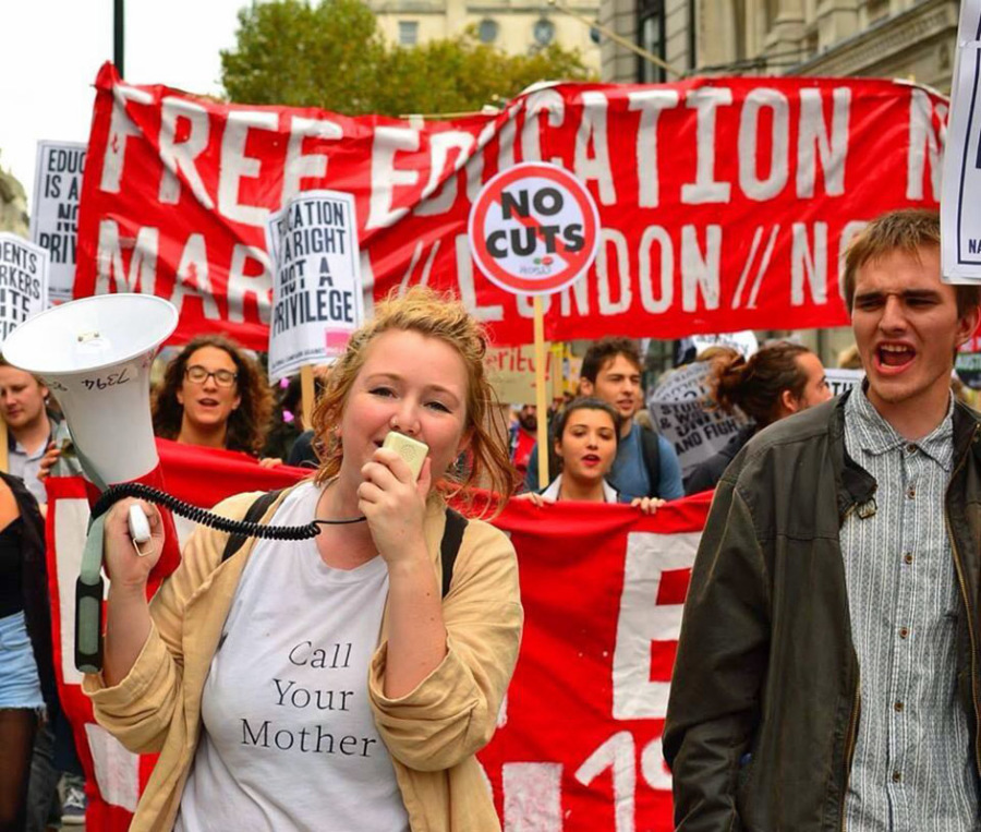 Marcia per la #FreeEducation a Londra
