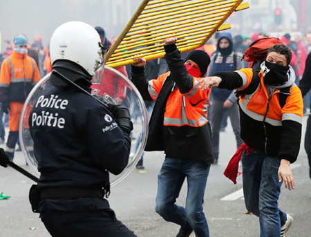 Proteste in Belgio
