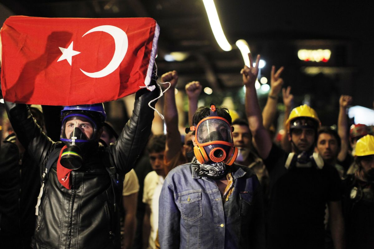 Le proteste di Gezi Park nel 2013 - Foto di Getty