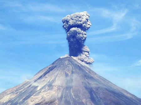 Attività del vulcano Colima