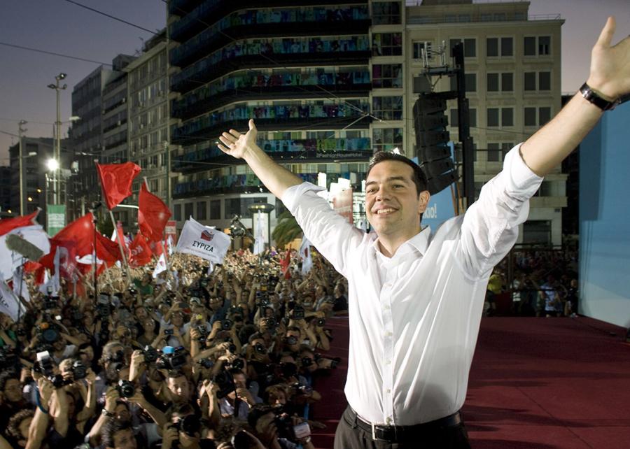 Alexis Tsipras festeggia la vittoria