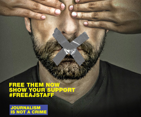 Campagna di sensibilizzazione per la liberazione dei giornalisti di Al Jazeera