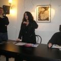 Lo staff Homo Scrivens, da sinistra: Aldo Putignano (editore), Francesca Gerla (caporedattrice). Giancarlo Marino (laboratori di scrittura)