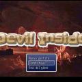 Schermata iniziale del gioco ''Devil Inside''.
