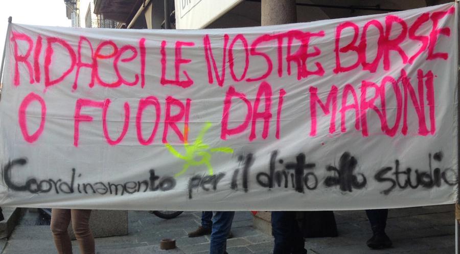 Proteste studentesche per il Diritto allo studio.