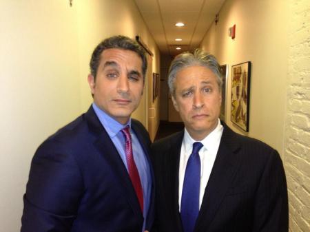 Bassem Youssef con Jon Stewart