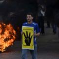 Manifestante dei Fratelli Musulmani nelle proteste del 2013