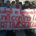 Studenti in corteo.