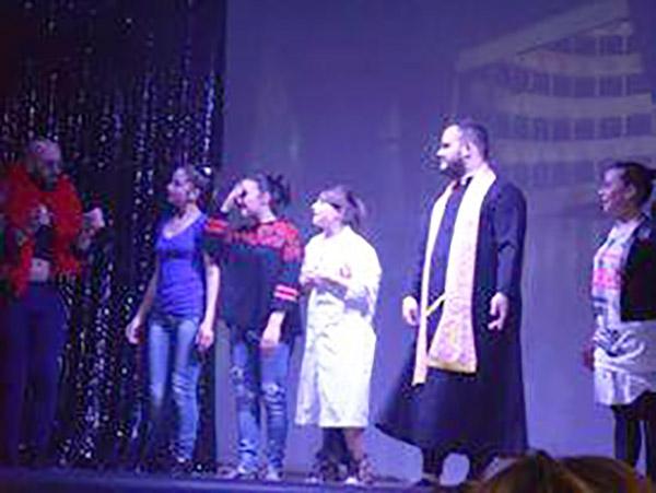 Una scena della rappresentazione.