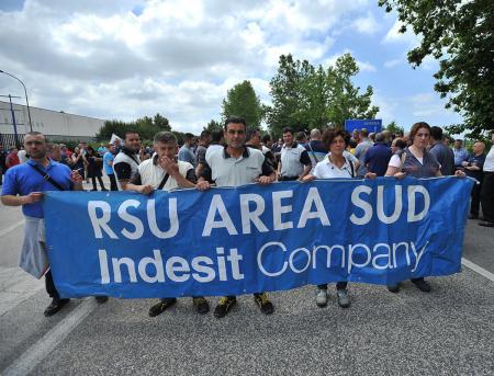 Protesta lavoratori Indesit - Foto Felice De Martino
