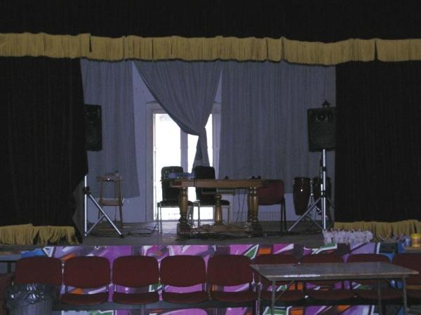 Teatro allestito al secondo piano