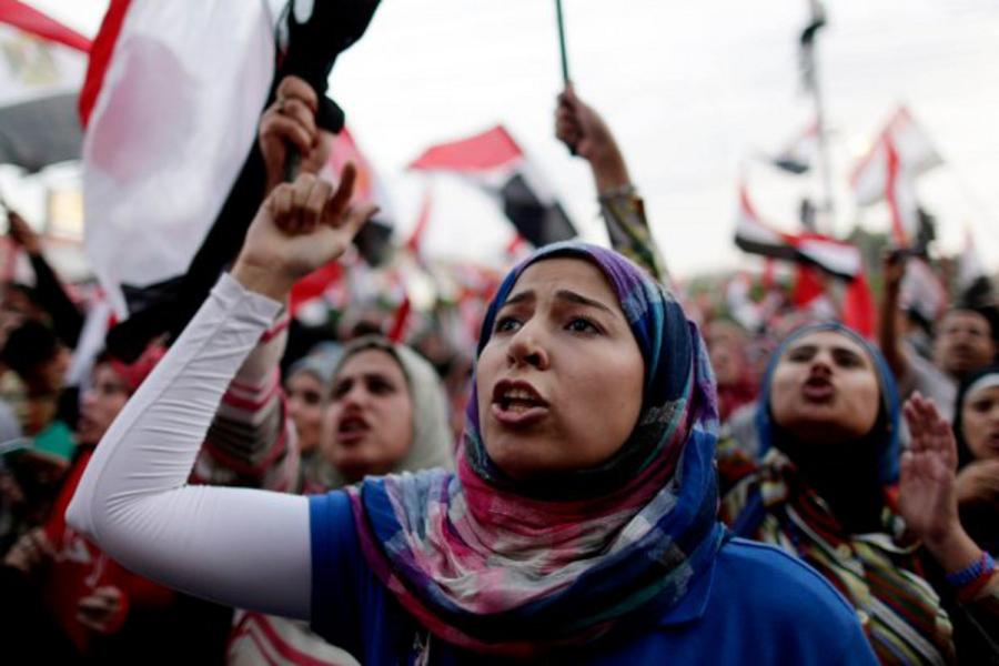 Donne egiziane durante proteste