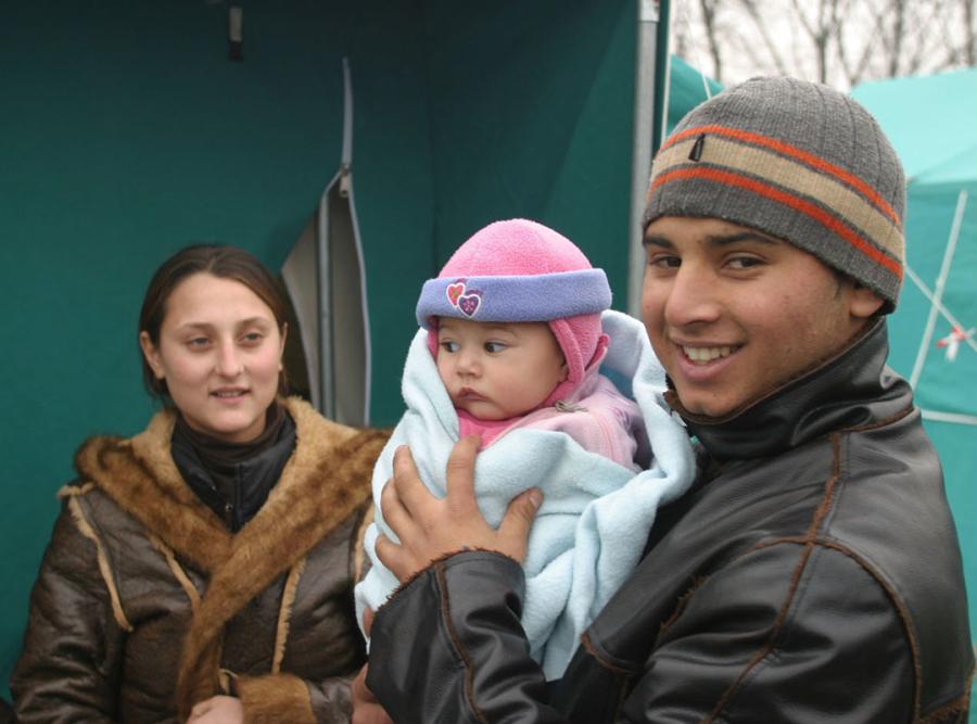 Famiglia Sinti - Foto di Roberto Re.