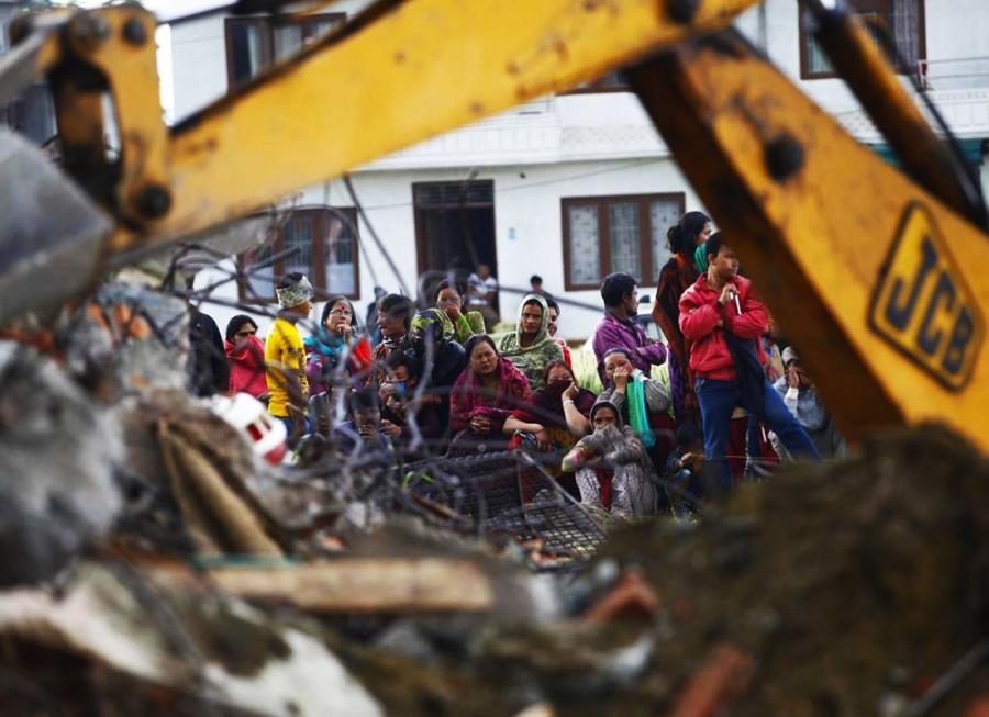 Nepal distrutto dal terremoto.