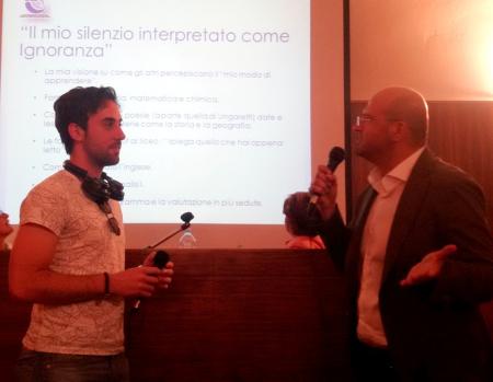 Luca Visaggio con il Dott. Andrea Di Somma, al Convegno sui DSA