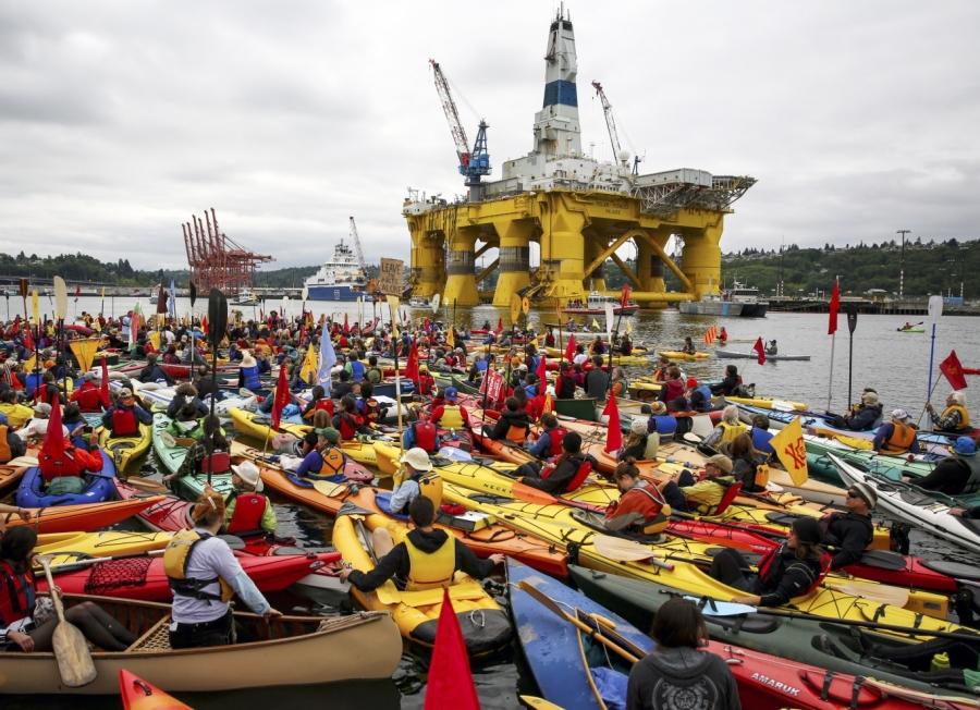 Manifestanti a Seattle