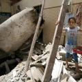 Tra le macerie di El Rafa, nel sud di Gaza