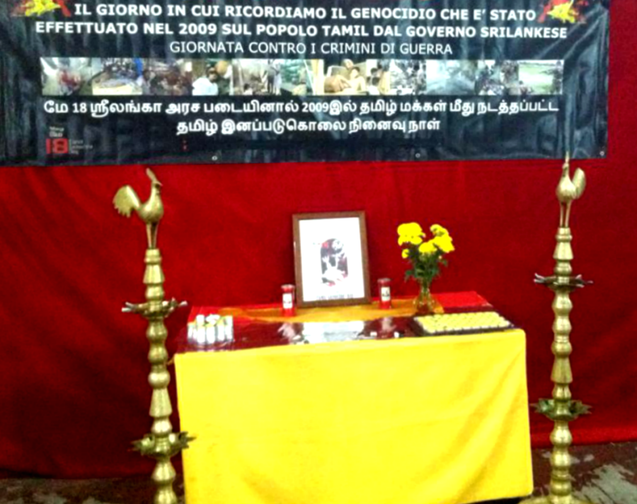 Altare commemorativo Tamil - Foto di Miriam Lanzetta