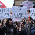 Lega Nord contestata in Sicilia - Foto di Mike Palazzotto.
