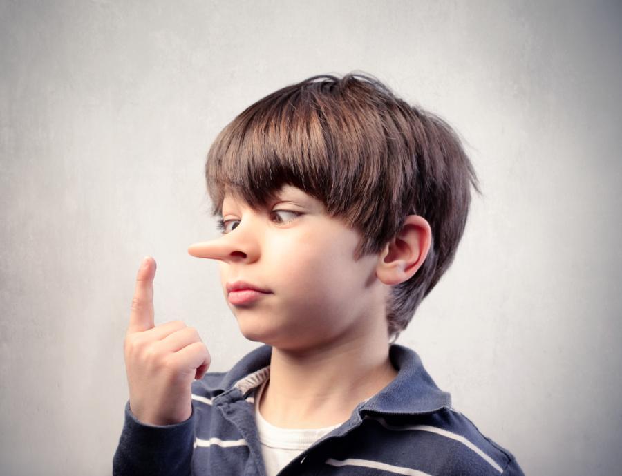 Bambini che dicono bugie