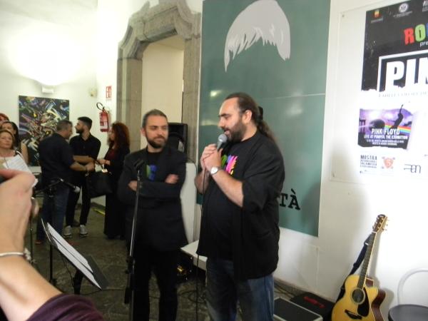 Gli organizzatori: Michelangelo Iossa e Carmine Aymone