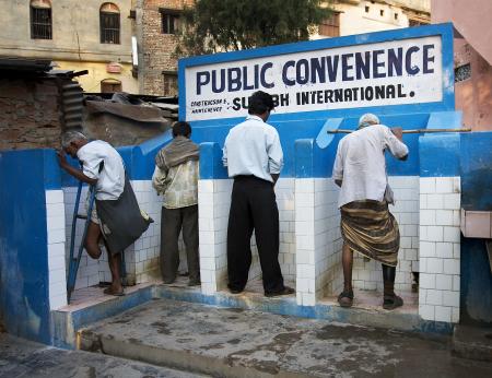 Bagni pubblici in India