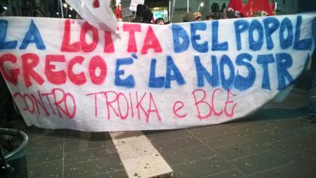Solidarietà al popolo greco