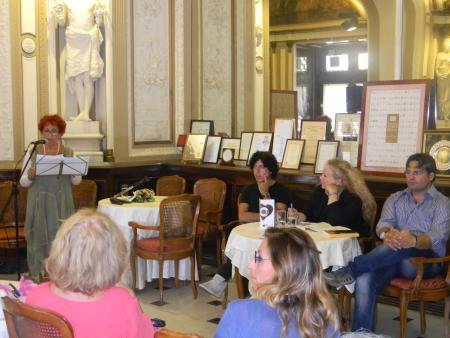 Il Caffè protagonista al Gambrinus. Da sinistra a destra: Tina Femiano, Lino Blandizzi, Anna Copertino, Nando Cirella. Tutte le foto sono di Riccardo Bruno