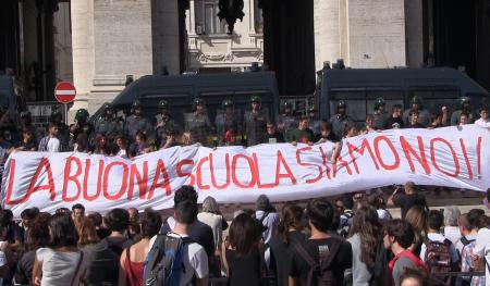Protesta contro la Buona Scuola
