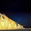 Facciata del Grande Museo Egizio secondo il progetto