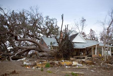 Alcuni dei danni provocati dall'Uragano Katrina nel 2005