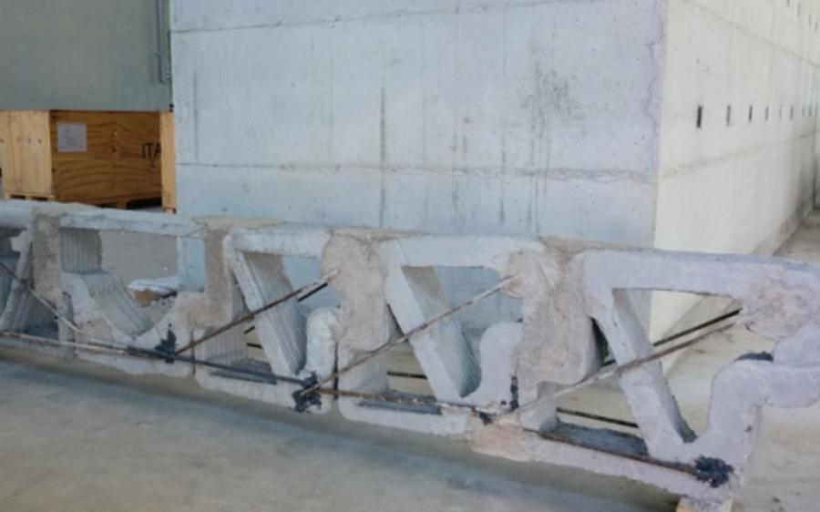 Travi modulari in cemento realizzate con stampante 3D