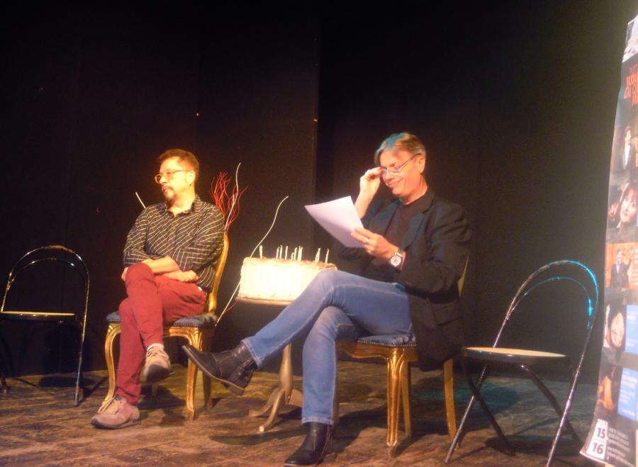 Rosario Ferri e Arnolfo Petri durante la presentazione della XVIII stagione teatrale del Primo