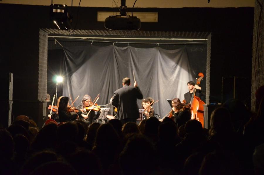 orchestra sul palco