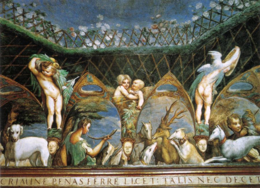 Storia di Diana e Atteone. Affresco Parmigianino