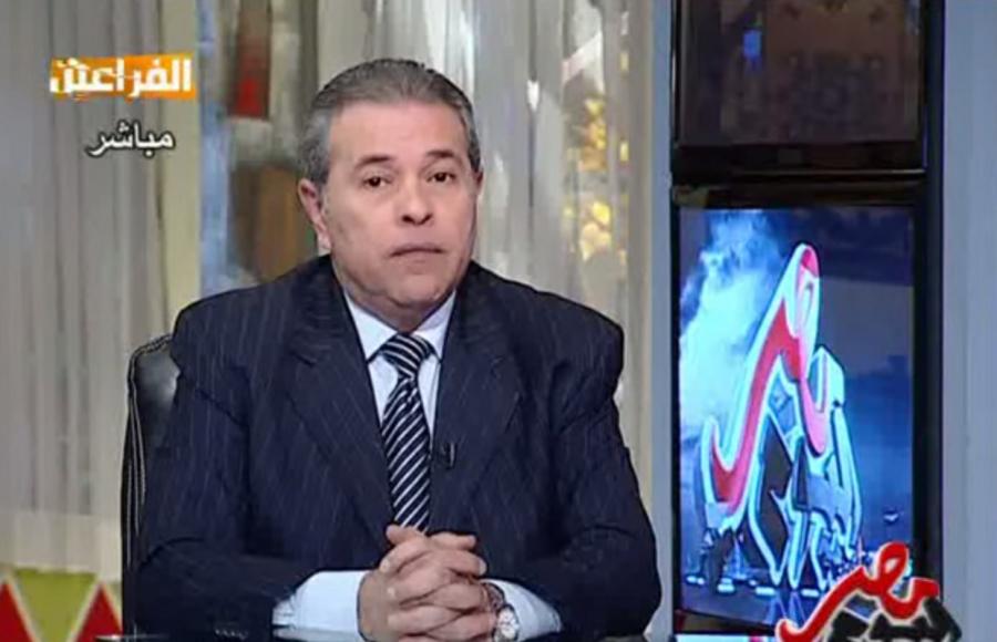 Il conduttore tv e parlamentare egiziano Tawfik Okasha