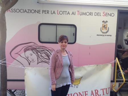 Monica Carannante con il Camper Donna